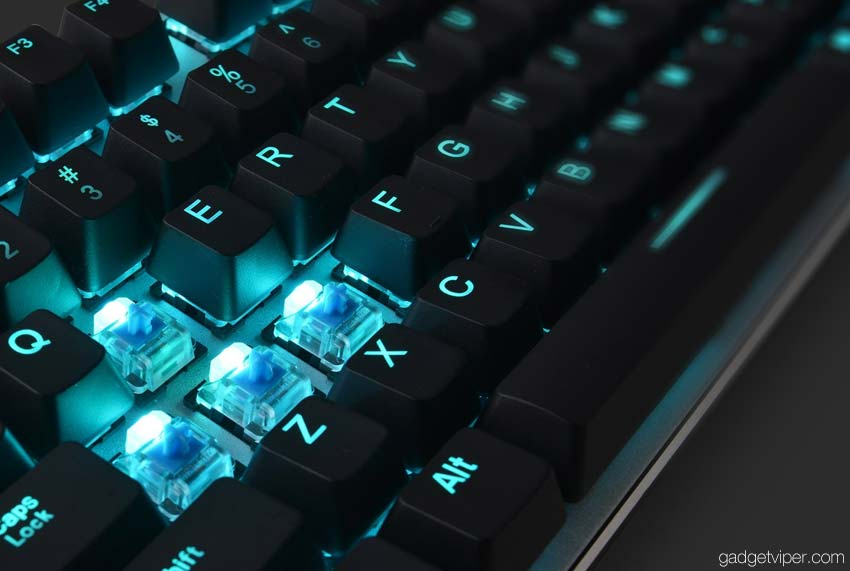 The HV-KB366L Havit keyboard features individually backlit mechanical keys