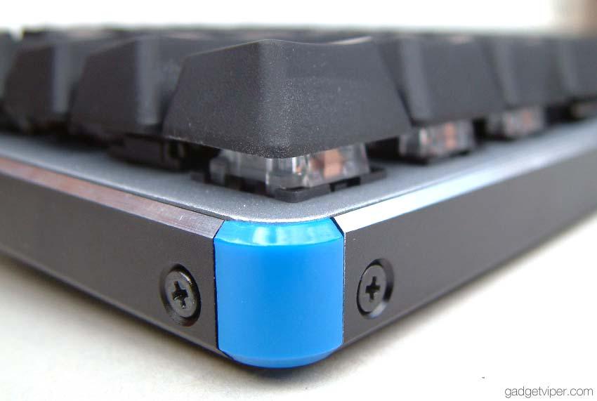 A close up shot of the HV-KB366L backlit mechanical gaming keyboard