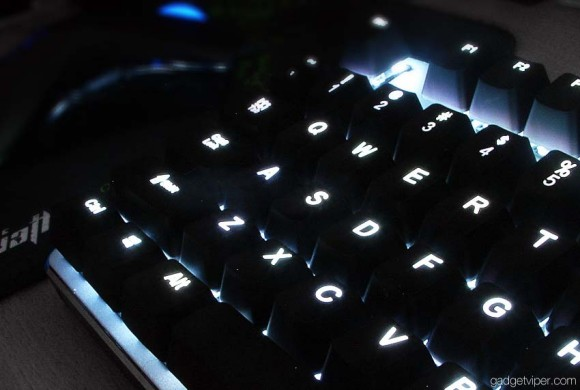 The cool white backlit Havit mechanical gaming keyboard
