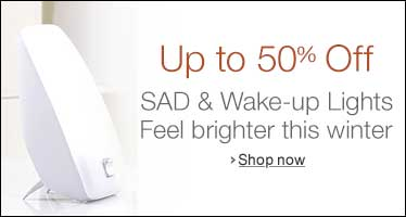 50% off SAD lights and Wake up Alarm clocks