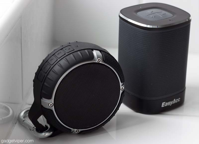 A comparrison between the waterproof 1byOne and the DP100 EasyAcc bluetooth speaker