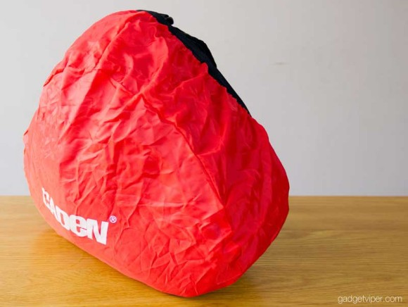 The rain cover that comes with the Caden K1 DSLR camera bag