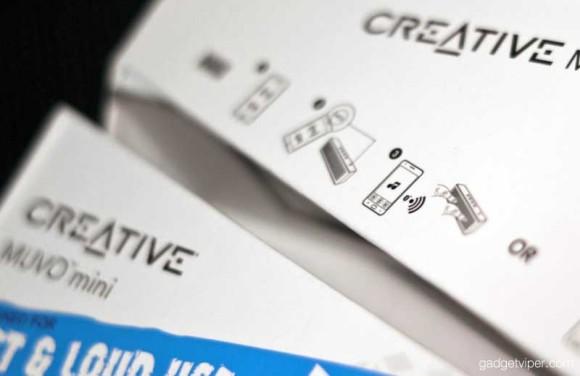The presentation box on the MUVO Mini creative bluetooth speaker