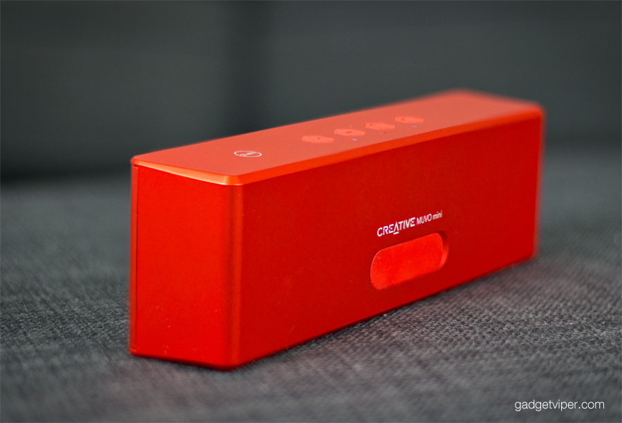 A look at the Creative MUVO mini bluetooth speaker shape
