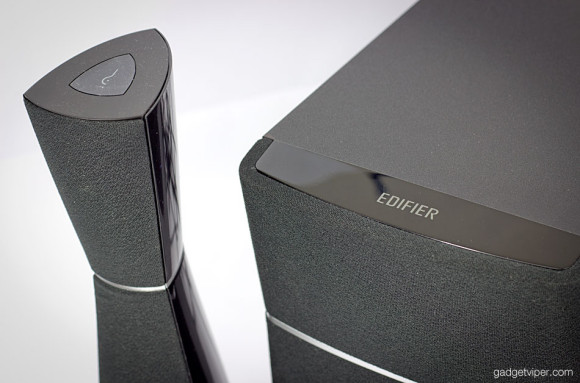 Edifier M3200BT 2.1 speakers viewed from above