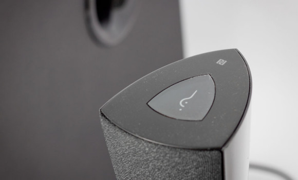 NFC tap to pair feature on the M3200BT Edifier speakers