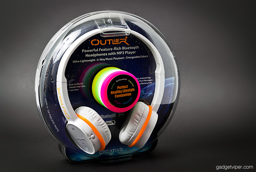 The Outlier - Creative blutooth headphones featuring the latest bluetooth technology, USB, AUX and MicroSD music playback