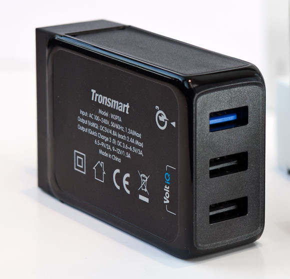 The Tronsmart Quick Charge 3.0 wall charger