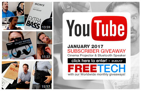 Subscribe to GadgetViper's YouTube channel for your chance to get some free tech products