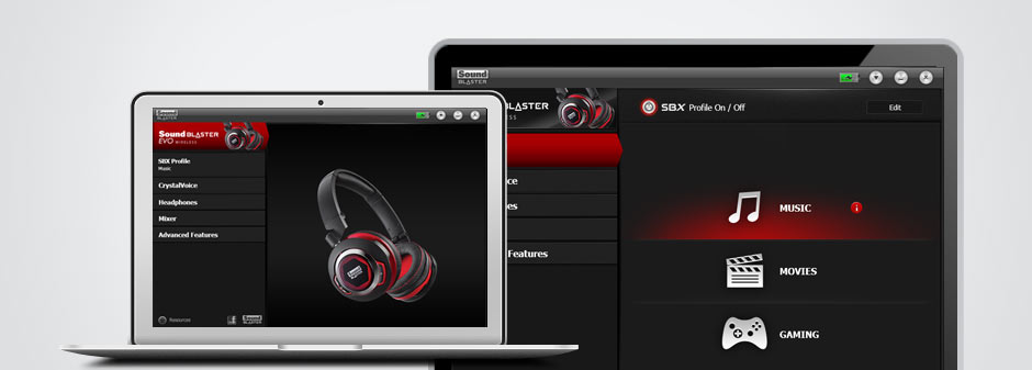 Sound Blaster EVO Wireless headphone software