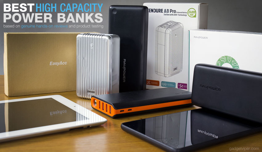 Best Power Bank List - 2016 - 20000mAh high capacity portable phone chargers
