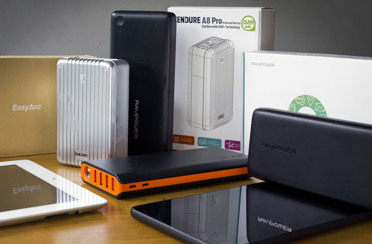 The selection of the Best high capacity power banks with over 20000mAh