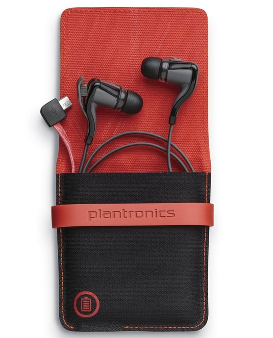 The Plantronics Backbeat GO 2 wireless earphones come with a portable charging case