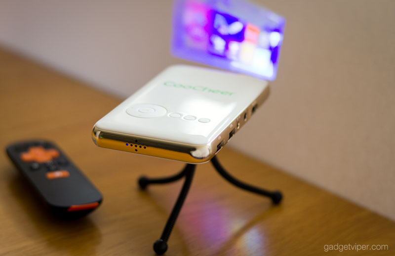 Coocheer mini led projector a smart portable android for A small projector