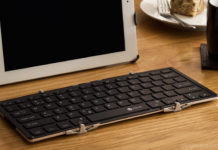The iClever full size backlit bluetooth foldable keyboard