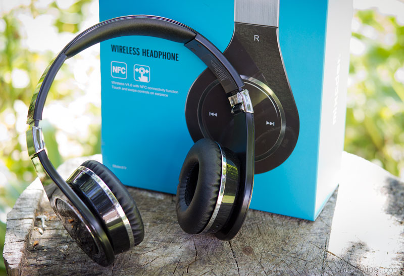 The Mixcder 872 Bluetooth headphones with touch swipe functionality
