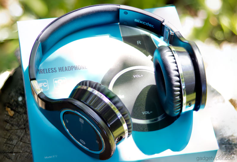The design and build quality of the 872 Mixcder bluetooth headphones