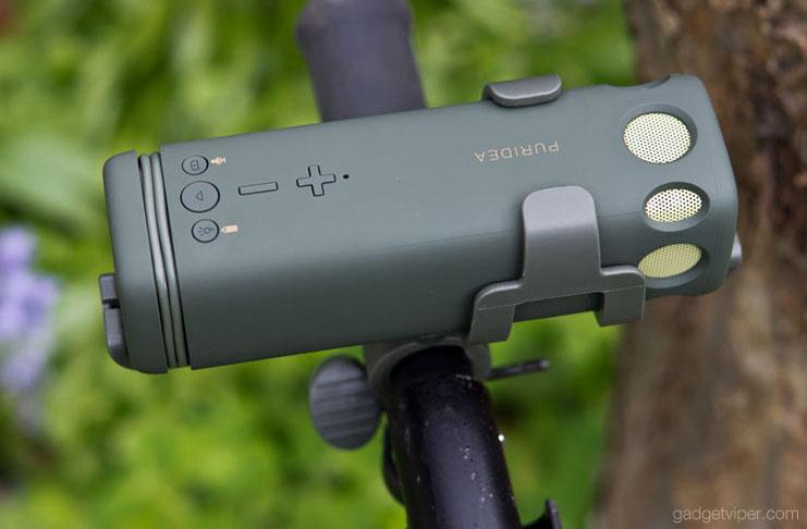 A review of the PURIDEA i2 bluetooth bike speaker