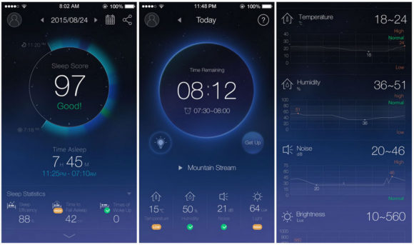 The sleepace app.