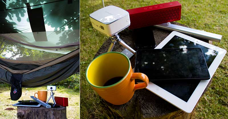Mobile devices charged with the 24W RAVPower solar charger