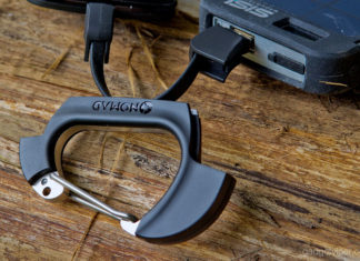 A review of the NomadClip - A smart carabiner with integrated USB cables to charge and sync your mobile devices.