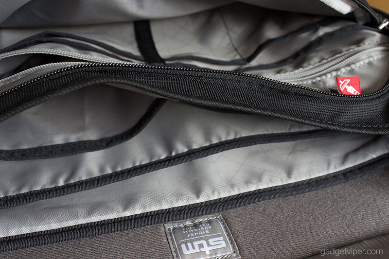 so many compartments inside the STM Radial 15 Inch Laptop Messenger Bag