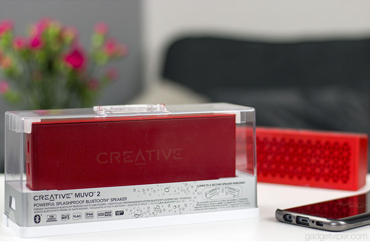 A detailed review of the Creative MUVO 2 portable speaker and a comparison to the previous MUVO mini Bluetooth speaker