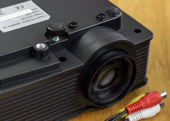 A look at the underside of the Mpow mini LED projector