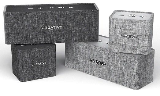 The Creative Nuno and Nuno Micro Bluetooth speakers.