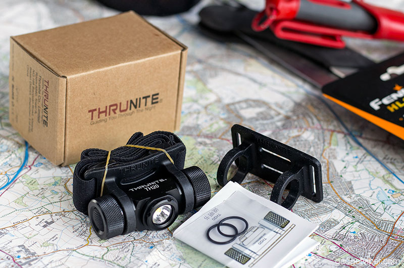 The ThruNite TH20 comes with a replacement soft rubber head torch retainer