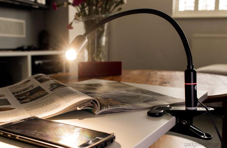 Aglaia Gooseneck Led Clamp Light An Efficient Dimmable