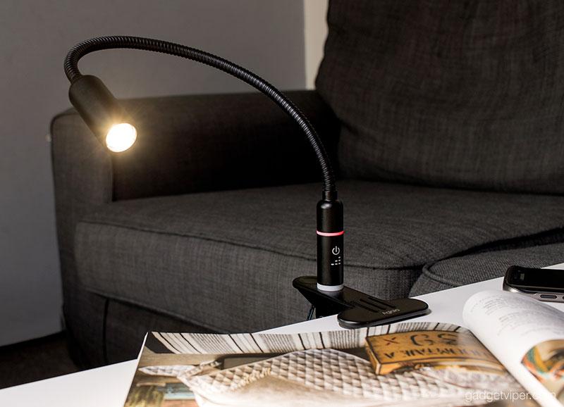 The Gooseneck on the Aglaia LED clamp light