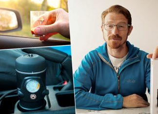 The Handpresso Auto Set - A 12V in-car espresso machine.