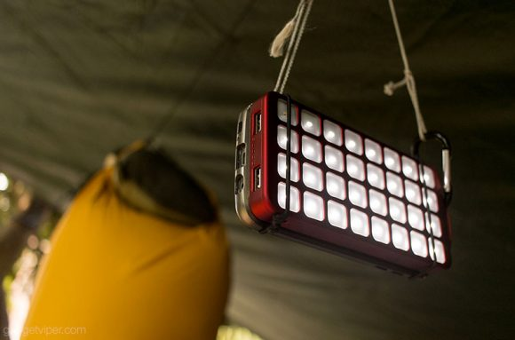 The LED camping light on the OutXE 8000mAh power bank