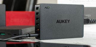 A look at Aukey 6 Port USB charging station and high capacity 20000mAh power banks featuring Qualcomm Quick Charge 3.0