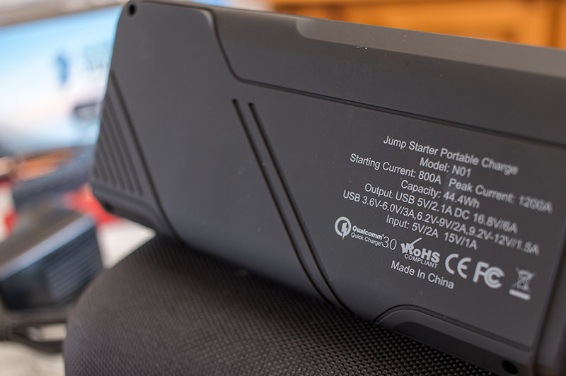 The DBPower No.1 compact jump starter with 1200A peak output