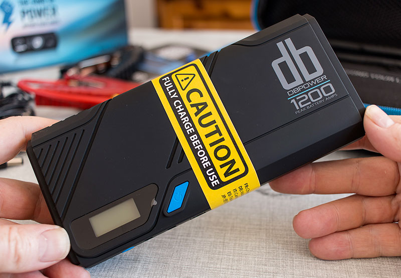 The 1200A peak DBPower No.1 portable car jump starter unit