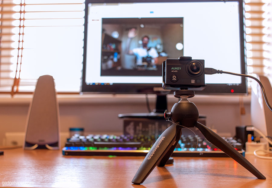 Using the Aukey Action Camera as a webcam on a PC or laptop
