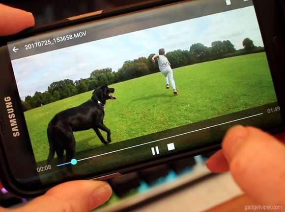 Using the iSmart DV app with the Aukey Action Camera