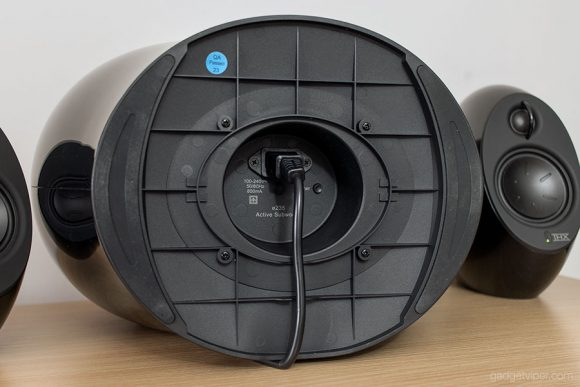The underside of the Edifier Luna E subwoofer