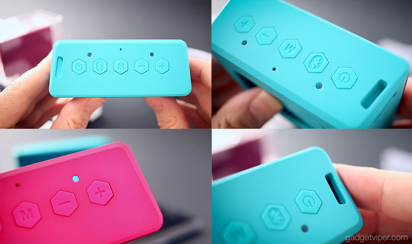 The vibrant new colours of the Creative MUVO 2c portable Bluetooth speakers