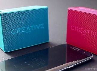 The front of the MUVO 2c portable Bluetooth speaker