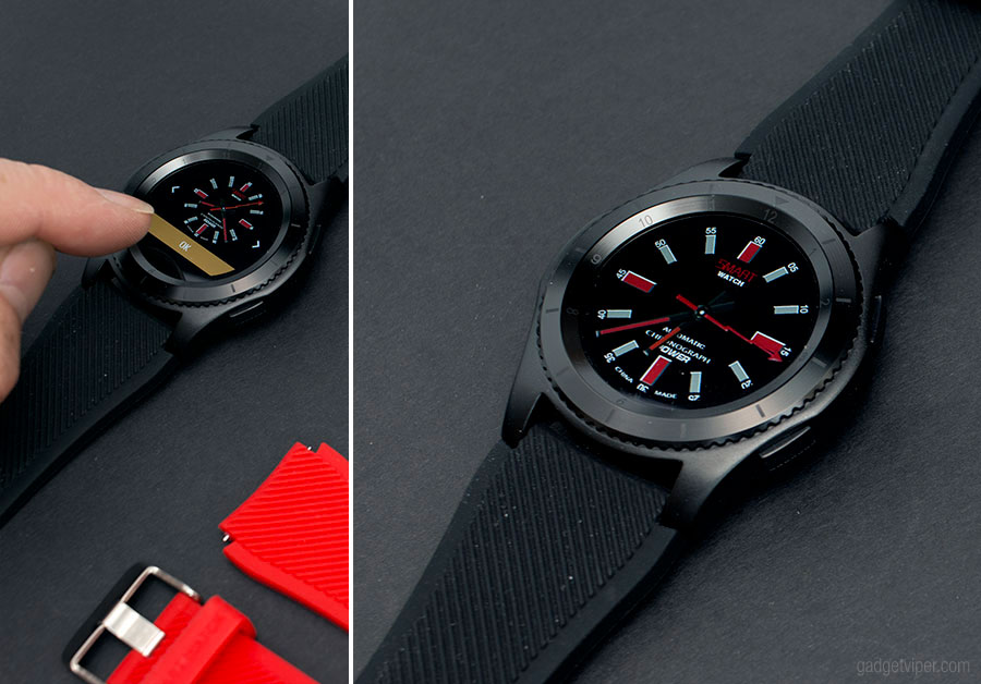 Switching between display designs on the G8 Smart Watch