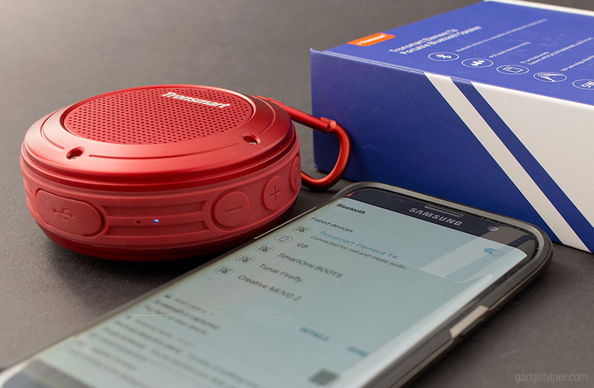 The audio performance of the Tronsmart T4 Element Bluetooth portable speaker