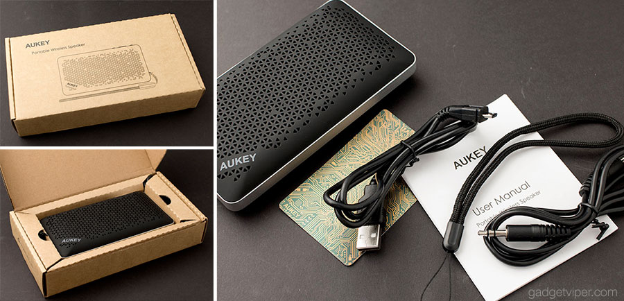 Unboxing the Aukey SK A2 Portable speaker and power bank