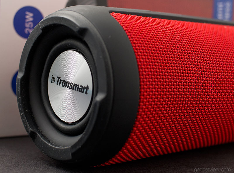 The downward facing passive subwoofer on the Tronsmart T6 portable speaker
