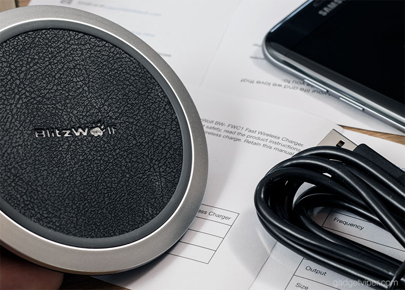 The design and build quality of the Blitzwolf BW-FWC1 Wireless Qi charging pad