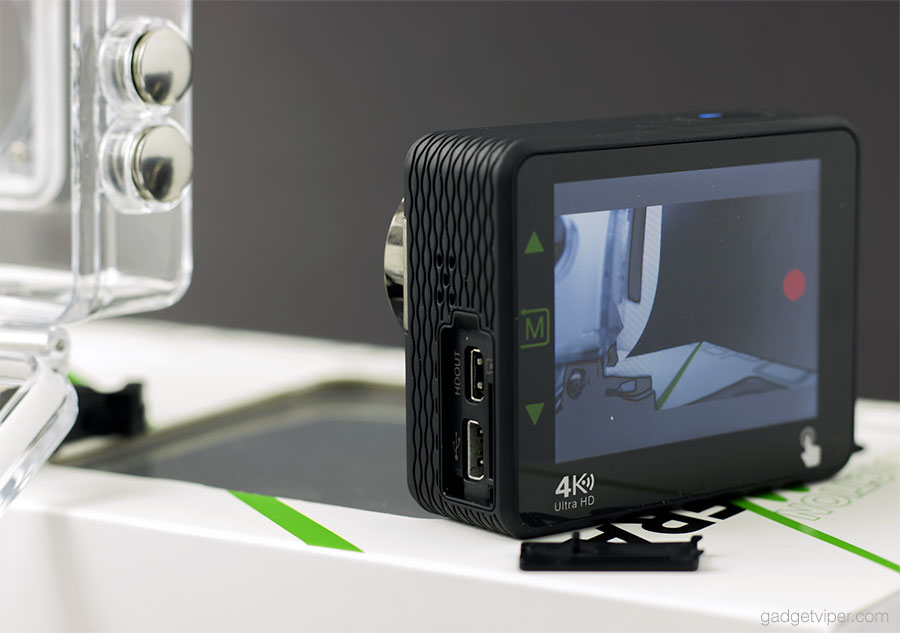 The touch screen on the DBPower N6 action camera