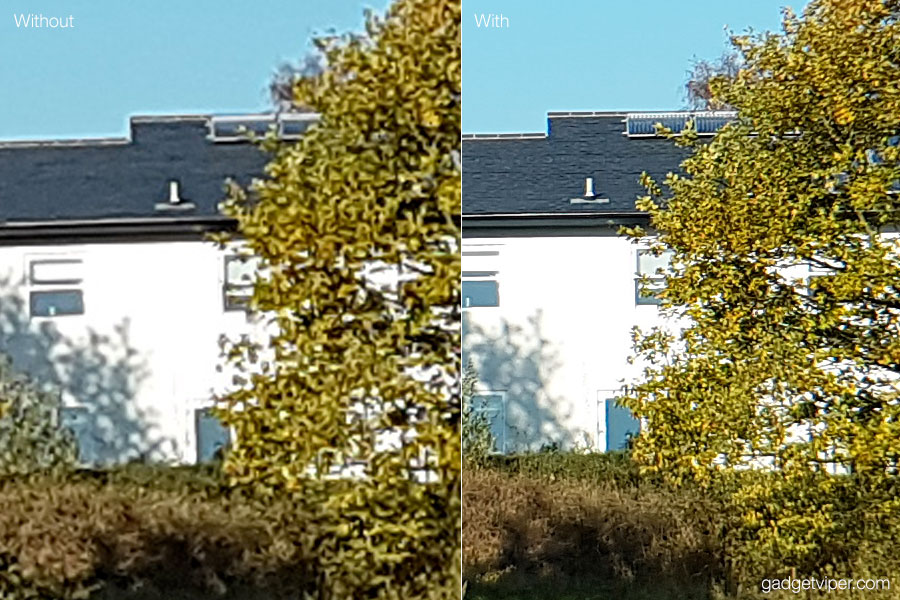 The BW-LS4 smartphone telephoto lens comparison shot taken with a Galaxy S7 Edge