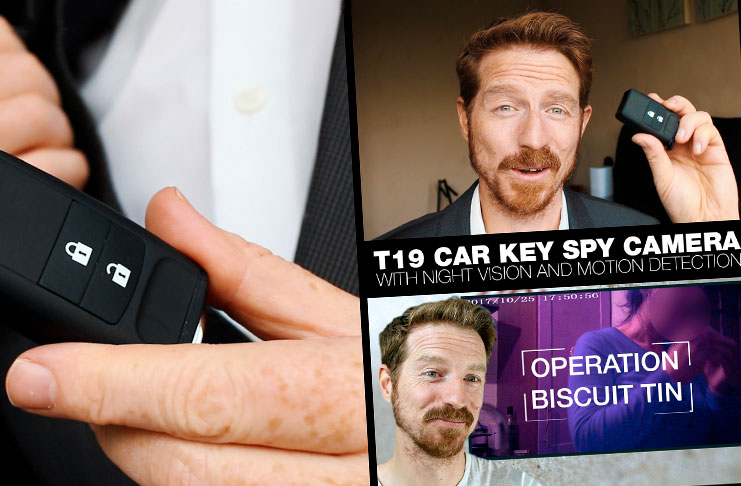A review of the Conbrov T19 Spy Camera, A hidden cam disguised as a Car Key Fob.